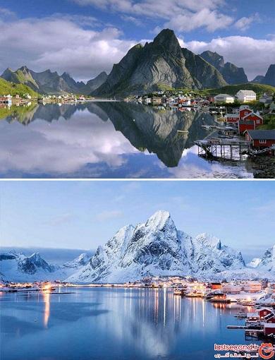 تصاویر زیبای طبیعت قبل و بعد از بارش برف