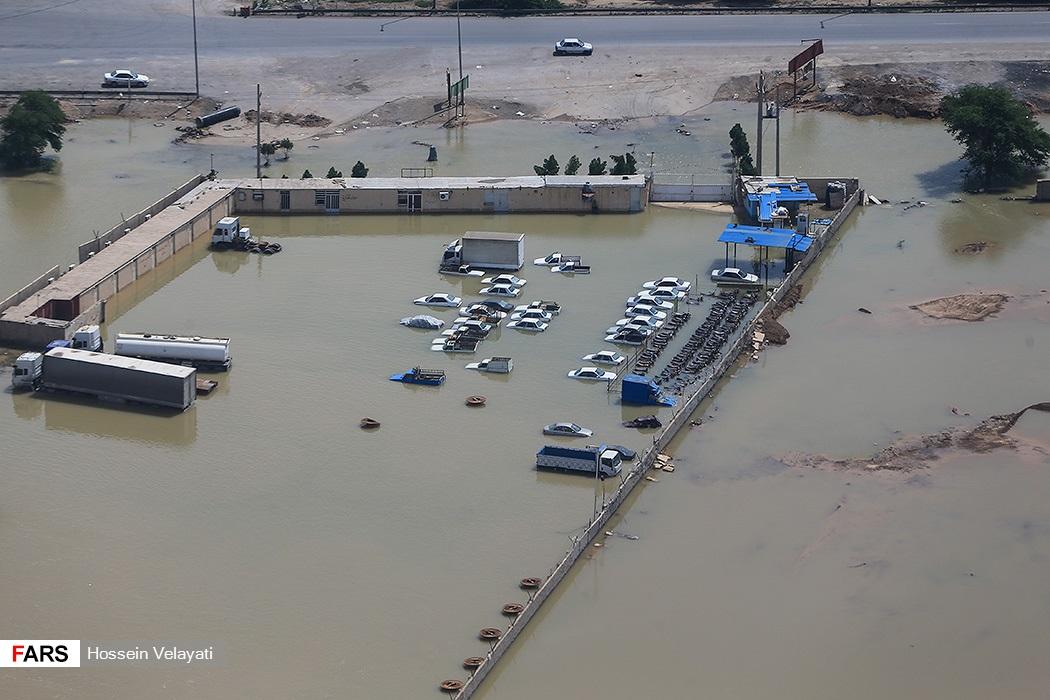 تصویر هوایی از سیل اهواز
